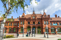 Railway station building in Malbork, Poland Royalty Free Stock Photography