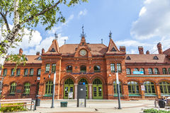 Railway station building in Malbork, Poland Stock Photography