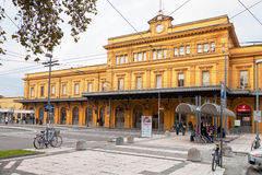 Railway station building in Modena, Italy Stock Photo
