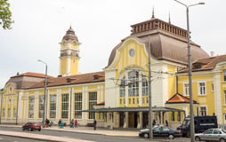 Railway Station Burgas in Bulgaria Royalty Free Stock Images