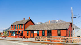 The railway station at carcross in the yukon territories Stock Images