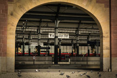 Railway station. Central railway station in Wiesbaden Stock Image
