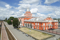 Railway station in Chernigov Royalty Free Stock Photo