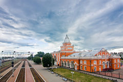 Railway station of Chernihiv Royalty Free Stock Photography