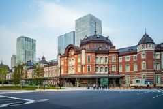 Facade view of tokyo station in japan Royalty Free Stock Photos