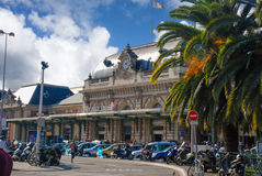 Railway station in the city of Nice royalty free stock images