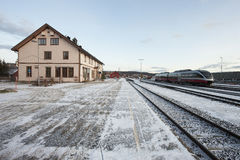 Railway station in the city of Roros Royalty Free Stock Images