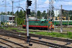 Railway station. In the city of Rostov-on-Don. Photo taken on: July 16 Tuesday, 2013 Royalty Free Stock Photo