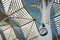 Railway station clock. Wall clock of train station Royalty Free Stock Images