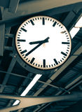 Railway station clock Stock Photography