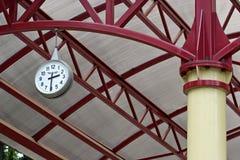 Railway station clock Royalty Free Stock Photo