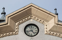 Railway station clock - RAW format Stock Images