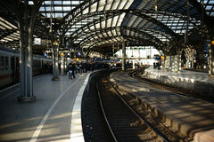 Railway station Cologne Royalty Free Stock Images