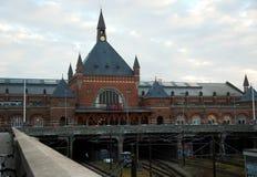 Railway station in Copenhagen, Denmark. Royalty Free Stock Photos