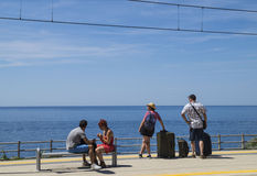 Railway station in Corniglia, Cinque Terre Royalty Free Stock Photography