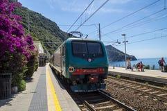 Railway station in Corniglia, Cinque Terre Royalty Free Stock Photos