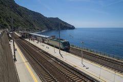 Railway station in Corniglia, Cinque Terre Stock Photos