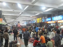 Railway Station in Delhi, India Stock Images