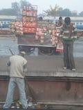 Railway Station in Delhi, India Royalty Free Stock Photo