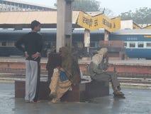Railway Station in Delhi, India Stock Photo