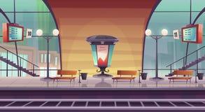 Free Railway Station, Empty Railroad Platform For Train Royalty Free Stock Photos - 199228628