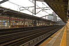 Railway station, Fukushima, Japan Stock Image