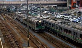 Railway station, Fukushima, Japan Royalty Free Stock Image