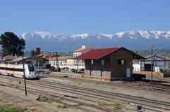 Railway station, Guadix, Spain. Royalty Free Stock Images