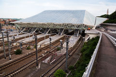 Railway station Guillemins in Liège, Belgium Stock Photography