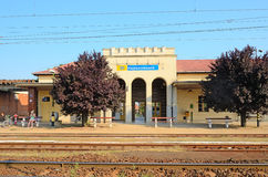 Railway station in Hajduszoboszlo, Hungary Royalty Free Stock Photography