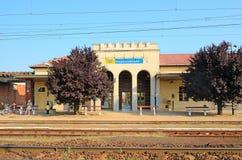 Railway station in Hajduszoboszlo, Hungary Royalty Free Stock Photography