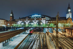 The railway station in Hamburg, Germany Royalty Free Stock Image