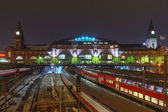 The railway station in Hamburg, Germany Stock Photos