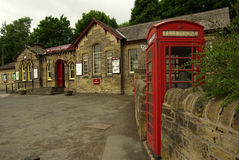 Railway station in Haworth, UK Royalty Free Stock Photography