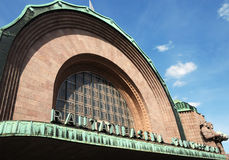 Railway station in Helsinki Stock Image