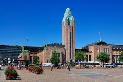 The Railway Station of Helsinki, Finland stock photo