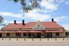 Railway station of the historical Old Ghan and the Pichi Richi Railways in Quorn, Western Australia Royalty Free Stock Images