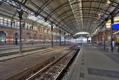 Railway Station Holland Spoor Stock Photo