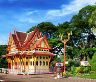 Railway station in the Hua Hin city in Thailand. Royalty Free Stock Photos