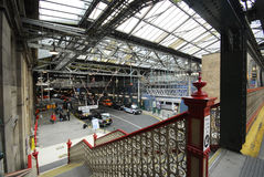 Railway Station interior and car road Royalty Free Stock Images