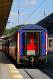 Railway station in Istanbul, Turkey. Local train on Sirkeci train station near center of Istanbul, Turkey stock images