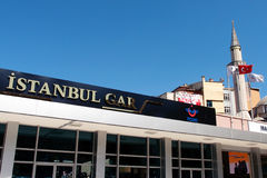 Railway station. In Istanbul, Turkey Royalty Free Stock Images