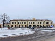 Railway Station in Jelgava Stock Photography