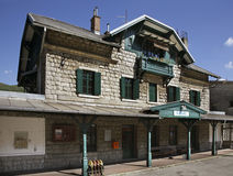 Railway station in Kanal. Slovenia Royalty Free Stock Images