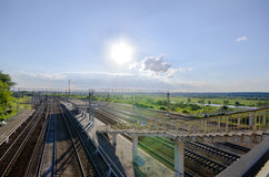 Railway station in Kashira Royalty Free Stock Photo