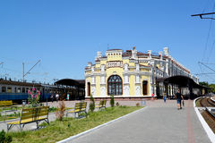 The railway station at Kazatin's station, Ukraine Royalty Free Stock Images