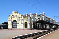 The railway station at Kazatin's station, Ukraine Stock Image