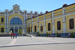 The railway station at Kazatin's station, Ukraine Royalty Free Stock Photography
