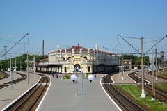 The railway station at Kazatin's station, Ukraine Royalty Free Stock Photos