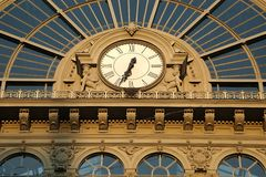 Railway station Keleti in Budapest Stock Photos